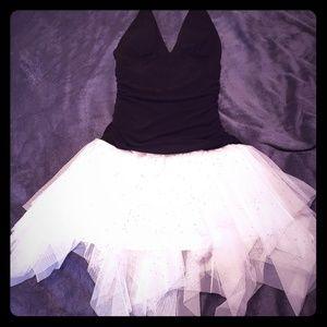 Black and White Tutu Party Dress